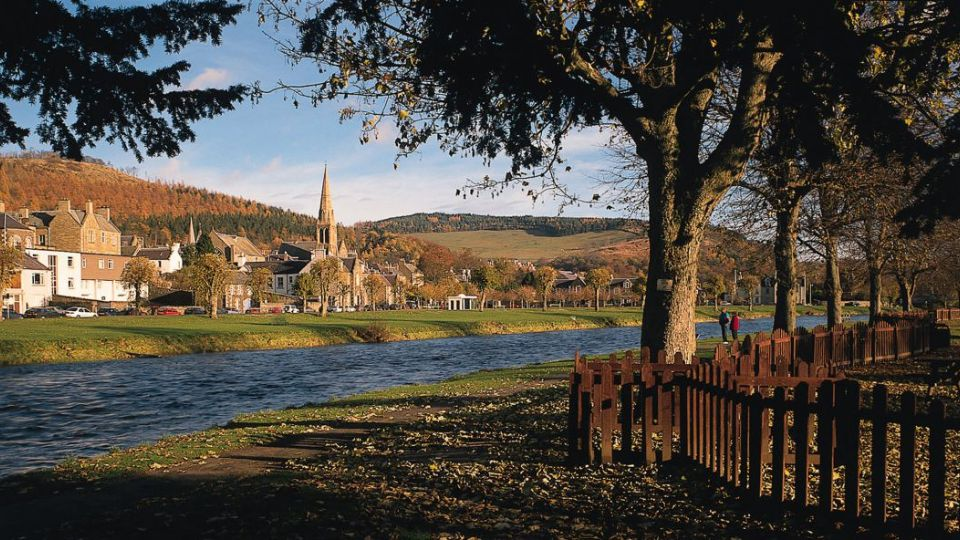 Riverside in Peebles, Borders