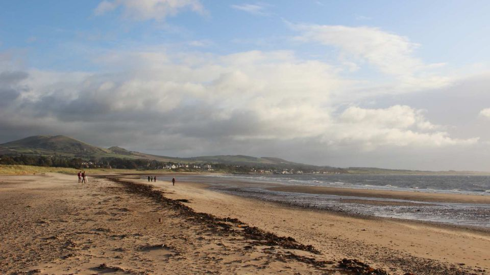 Beach run along Fife coast path