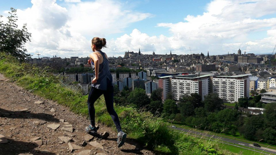 Runners in Edinburgh