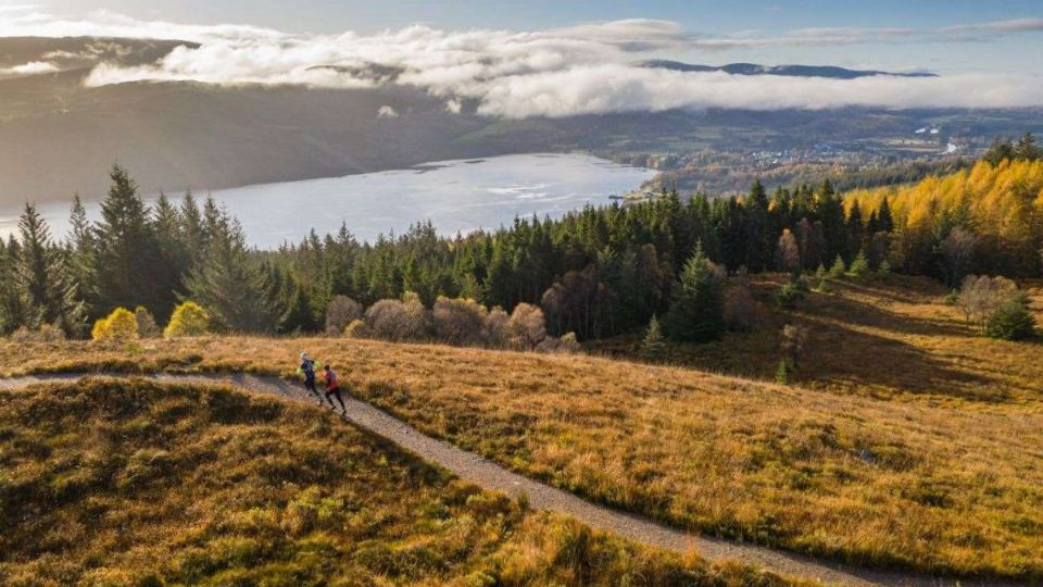 Runners in the Highlands of Scotland