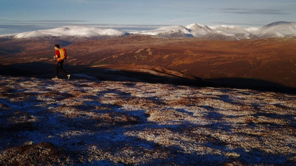 A runner in the Cairngorms National Park