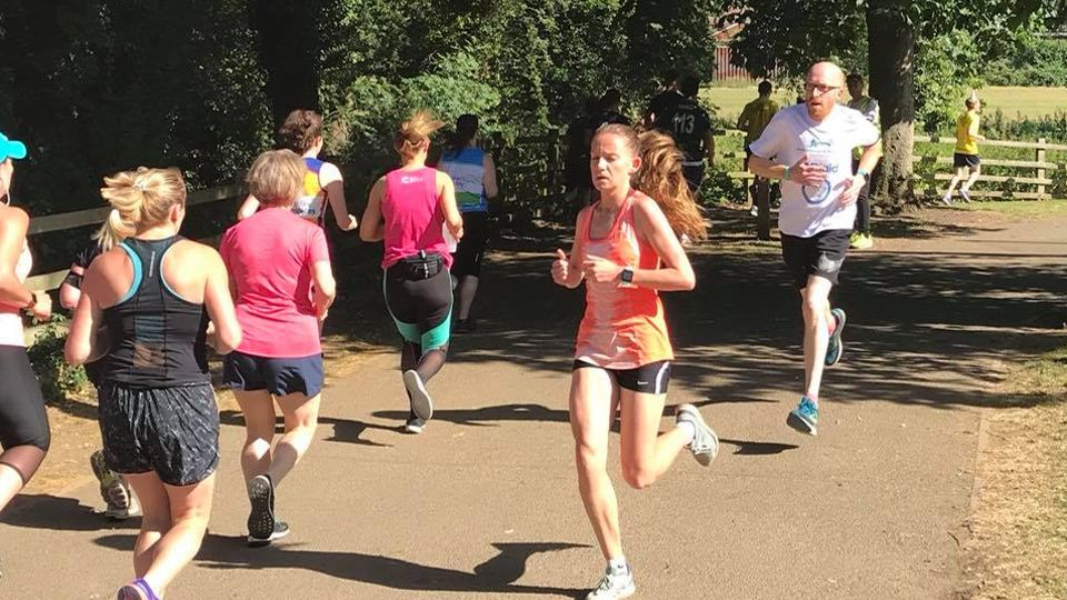 Runners at the Two Counties Half Marathon, 10K and Relay