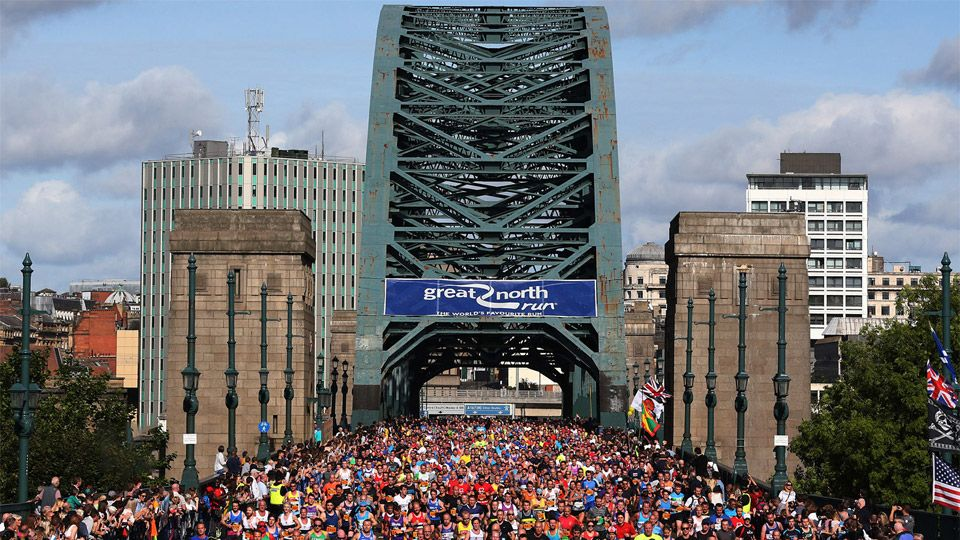 runners at the Great North Run