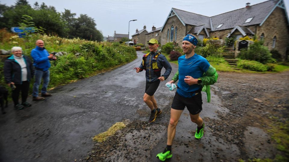 Ultra runner Damian Hall on his way to a new record at the Pennine Way