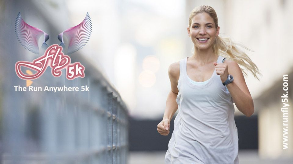 Happy runner with big smile