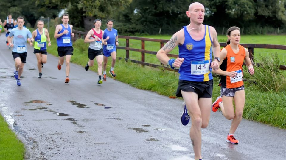 Going full speed at the Bartletts Farndon 10K