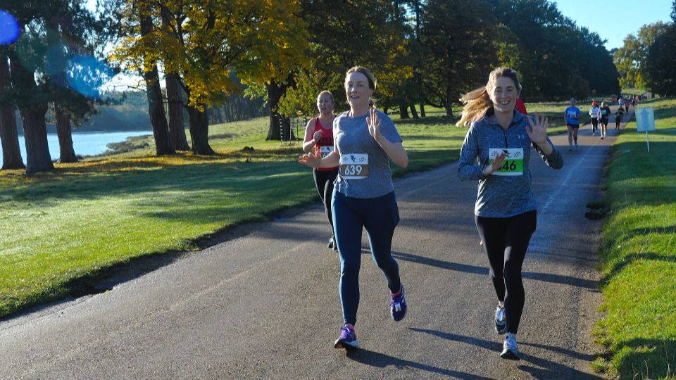 Runners enjoying the course at the Tatton 10K October