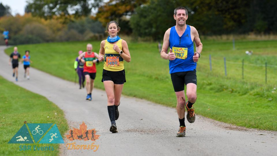 Runners at the Covid-secure Thoresby 10