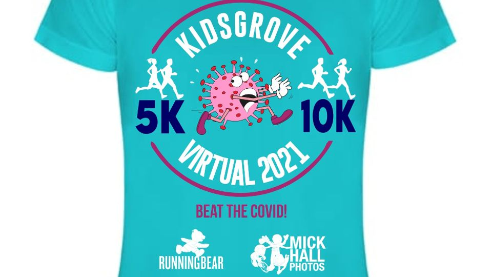 Finishers T-shirt for the Virtual Kidsgrove 10K and 5K
