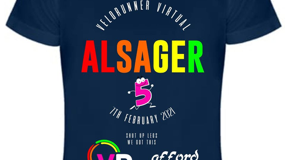 VeloRunner Virtual Alsager 5 Finishers T-shirt