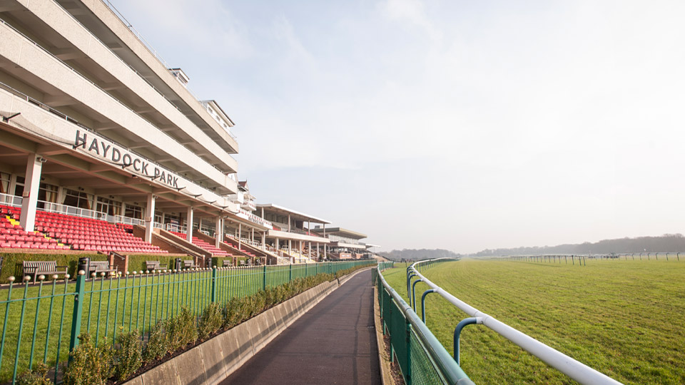 view of Haydock racecourse