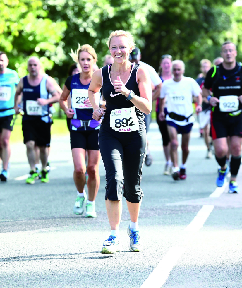 action from Hull Marathon
