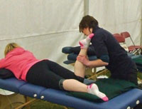 Fit for Purpose providing massages at a race in the north east