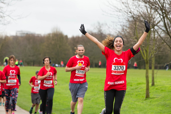 happy runners at the BHF Regent's Park Run