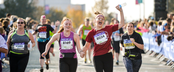 Happy Runner at the Sheffield 10K