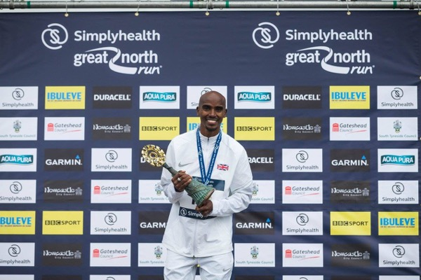 Mo Farah is chasing his fifth consecutive win at the GNR