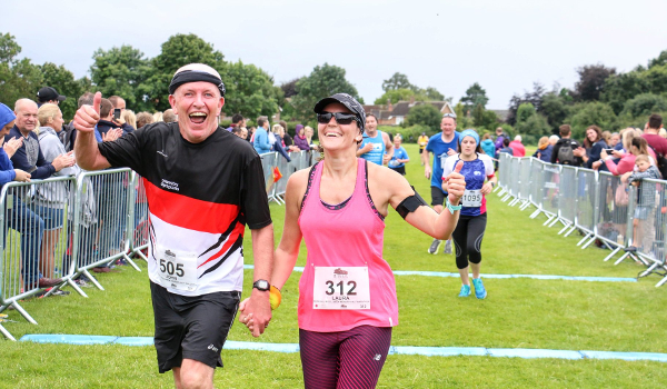 Thumbs Up For Newark Half Marathon