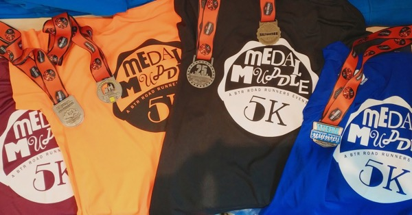 Medal Muddle t-shirts and medals