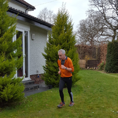 Andrew Freeman Runs Half Marathon In His Garden