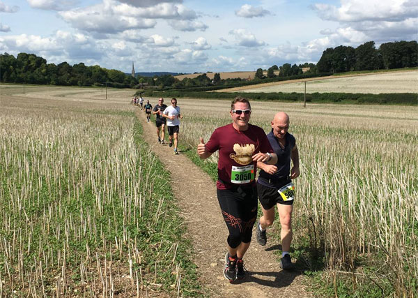runners on a Wiltshire trail
