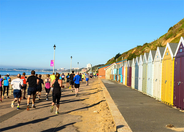 runners heading along the front at Bournemouth
