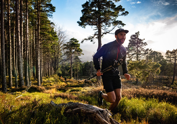 runner in the scenic Cairngorms
