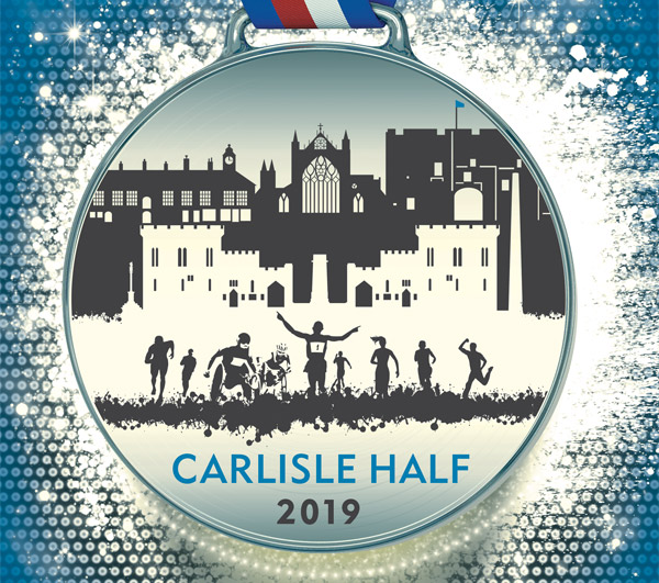 a shot of Carlisle Half medal