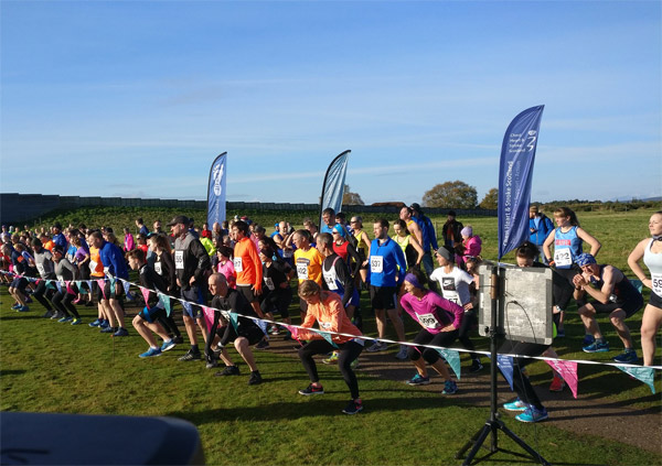 runners at the start of the Culloden Run