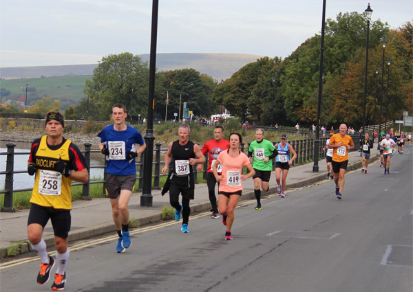 Action from scenic Rochdale Half