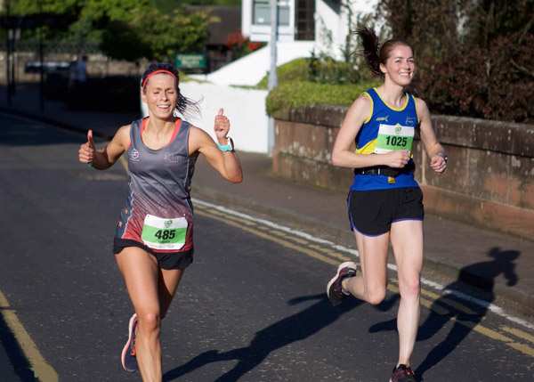 Two strong women runners at Go Festival Half