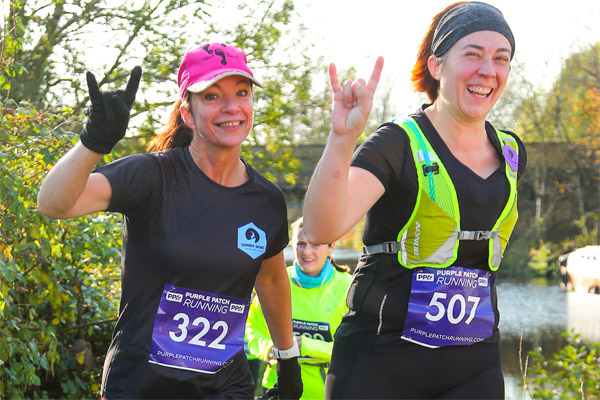 Two happy ladies at Grand Union Canal Race