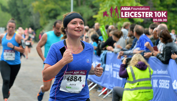 Happy runner at Leicester 10K