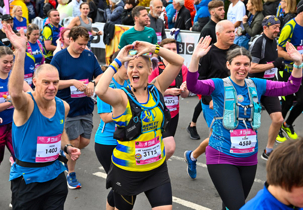 Happy runners at Yorkshire Marathon