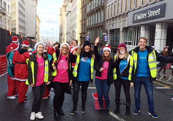 Happy Claire House supporters at Santa dash