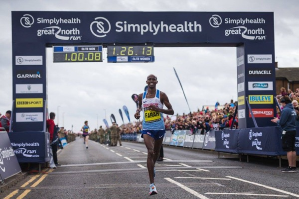 Mo Farah at the 2017 Great North Run