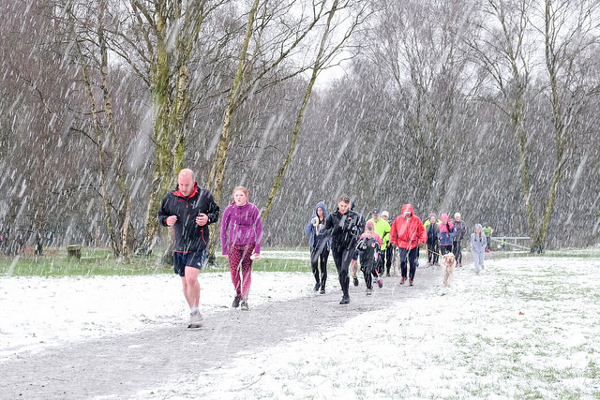 Snow Running At Cannock Chase parkrun