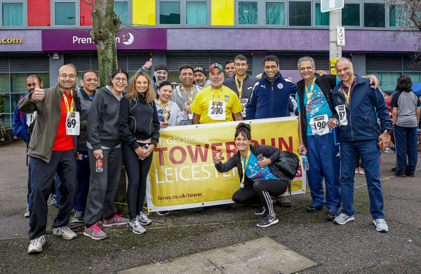 Runners At The LOROS Hospice Tower Run