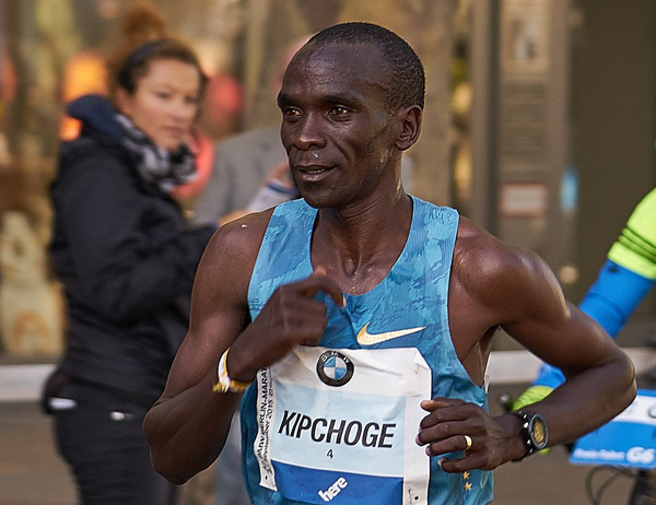 Eliud Kipchoge in action