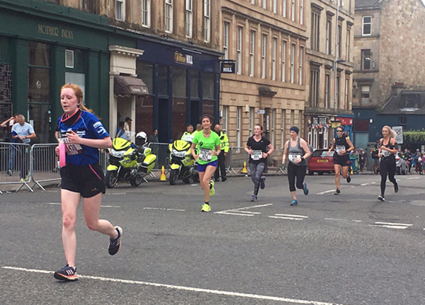 action from the Great Women's Run