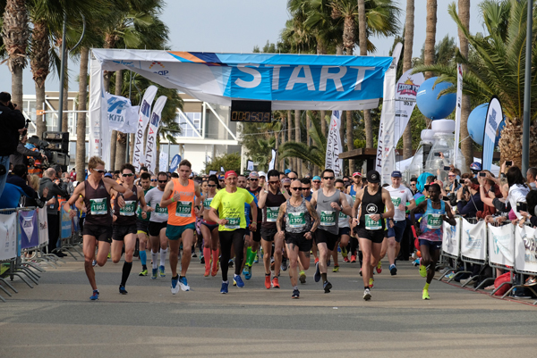 action from the start of Limassol Marathon