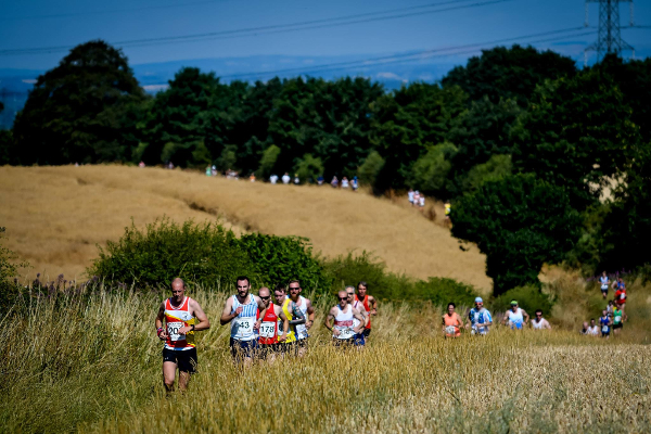 Running Through The Fields At Brooksie's Bash Trail Race