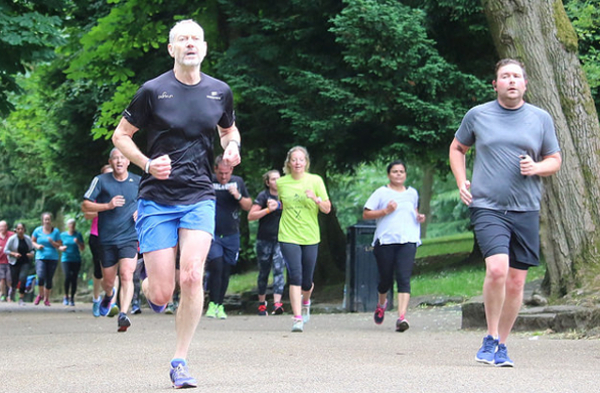 Runners At Walsall Arboretum parkrun