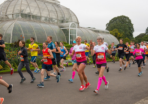 Two happy lady runners at Kew Gardens 10K