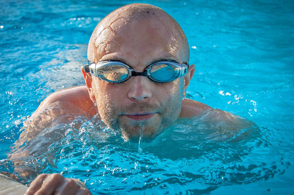 swimmer in pool
