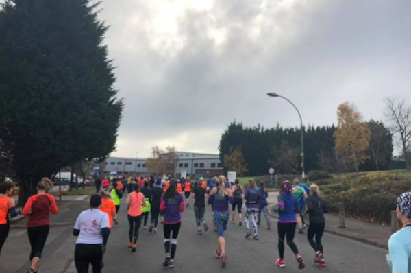 Runners At The Matthew Walker Christmas Pudding 10K