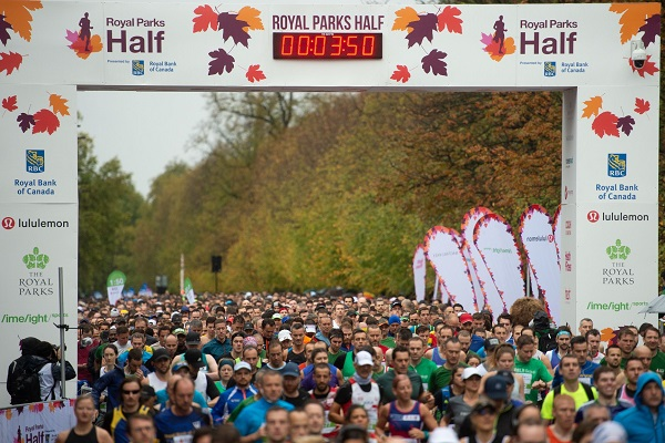 Royal Parks Half Marathon start 2018