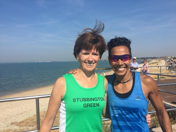 Penny Forse with Dame Kelly Holmes