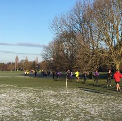 Frosty Conditions At Gloucester North parkrun