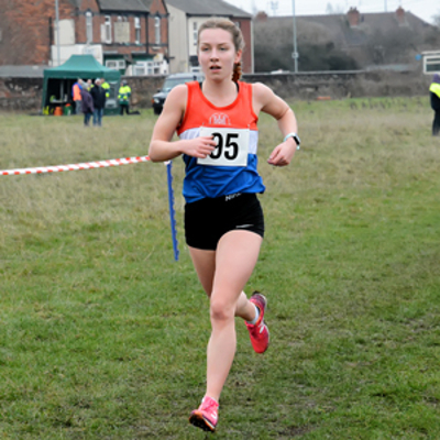Rebecca Twardochleb On Her Way To A Win At Staffs XC Champs