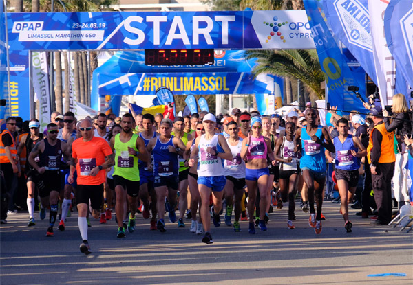 A sunny start to Limassol Marathon 2019